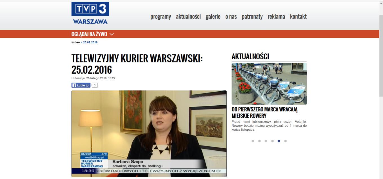 adwokat Barbara Szopa, TVP 3 _25.02.2016